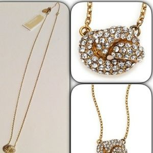 MICHAEL KORS Gold Tone Knot Collection Necklace
